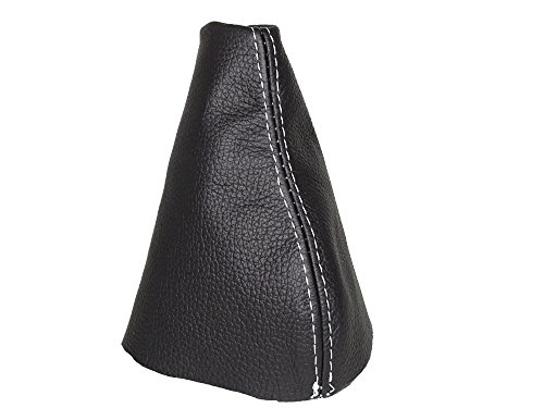 GEAR GAITER SHIFT BOOT BLACK ITALIAN LEATHER WITH YELLOW STITCH